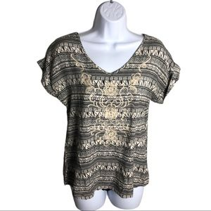 Anthropologie Solitaire Pattern Shirt Size M